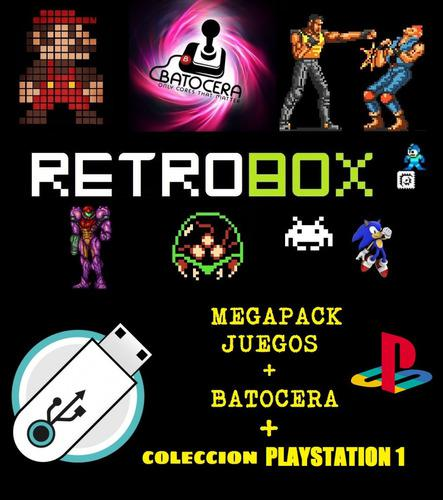 Coleciones De Roms + Playstation 1 + Batocera Usb