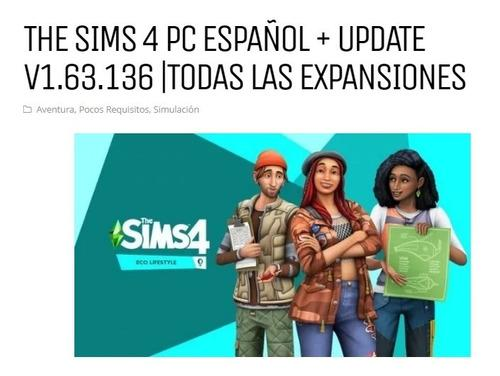 Los Sims 4+ Actualizaciones Juegos Para Pc En Español