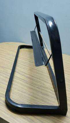 Porta Rollo de metal con cortador para bobina de papel