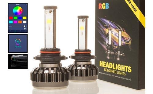 Kit Cree Led Rgb Bluetooth H1 H3 H7 H11 9005 9006 Multicolor