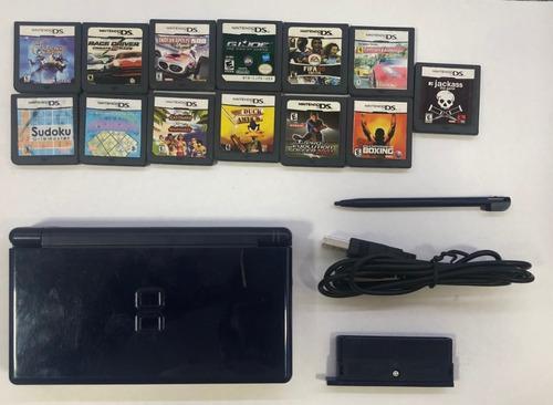 Nintendo Ds Lite Azul Con 13 Juegos
