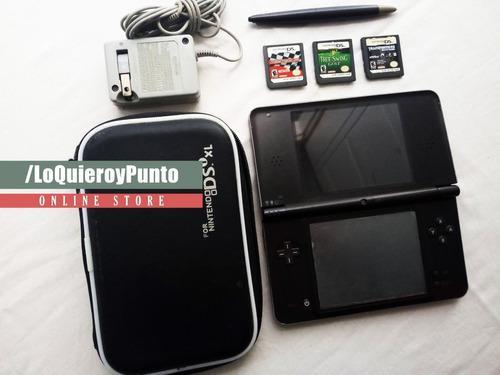 Nintendo Dsi Xl + 3 Juegos Fisicos + Estuche + Cable