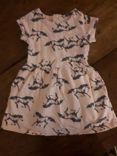 Vestido Caballos,algodón, Carters, Talle 2 Años!