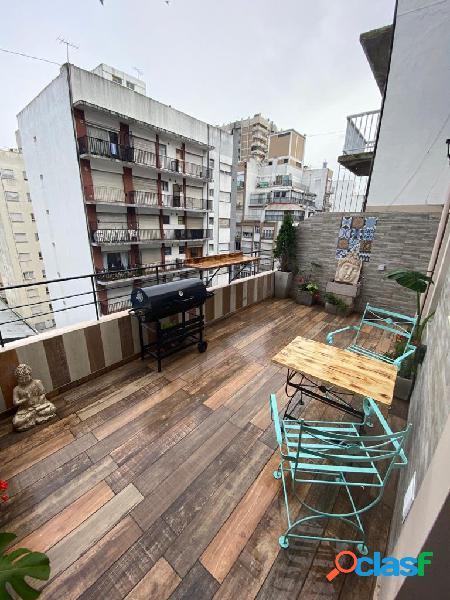 2 ambientes externos con balcon terraza, reciclado