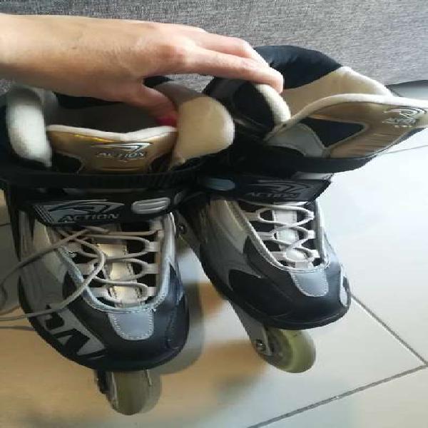 Patines rollers Action Sport Avec7. Num 40. Con protecciones
