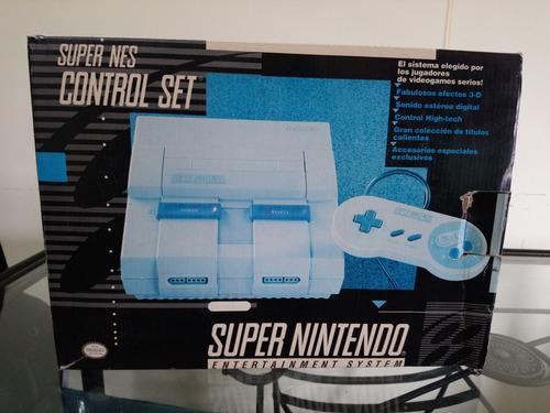 Super Nes Control Set Impecable Como Nuevo Snes Nintendo