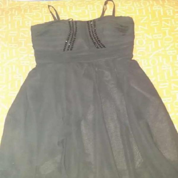 Vestido de fiesta negro talle XL