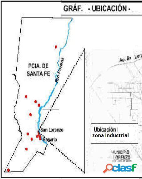 San Lorenzo, Santa Fe, Venta Fracción Industrial (31000 m2)