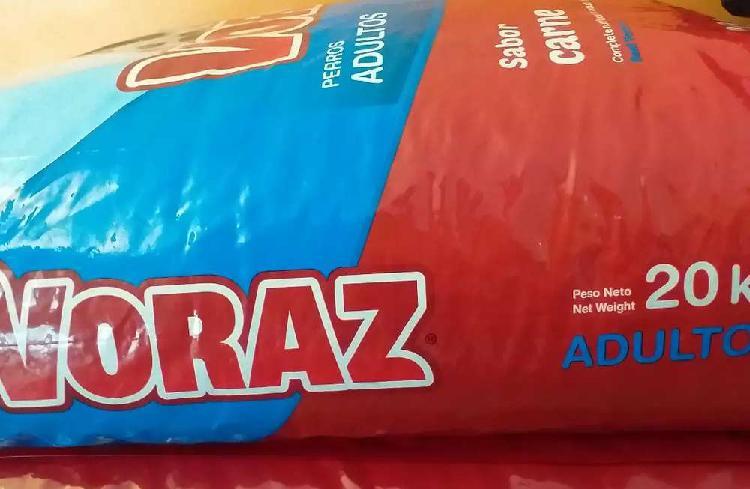 Alimento balanceado Voraz adulto x 20kg !!