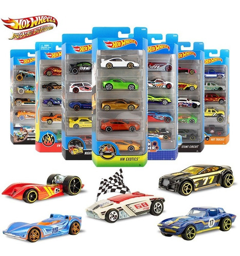 Autitos Hot Wheels Pack X5 Unid. Originales Mattel (almagro)