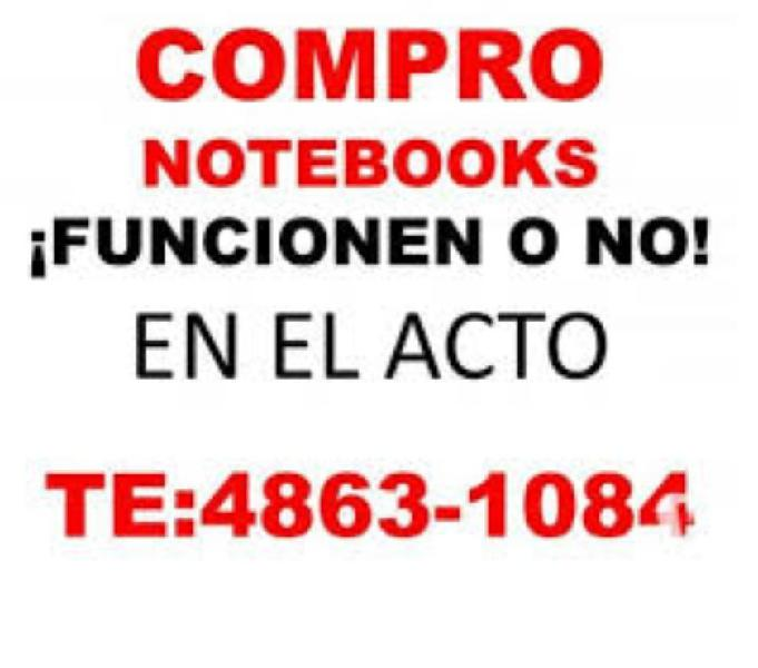 COMPRO NOTEBOOKS NETBOOKS FUNCIONEN O NO Te:15-62685586