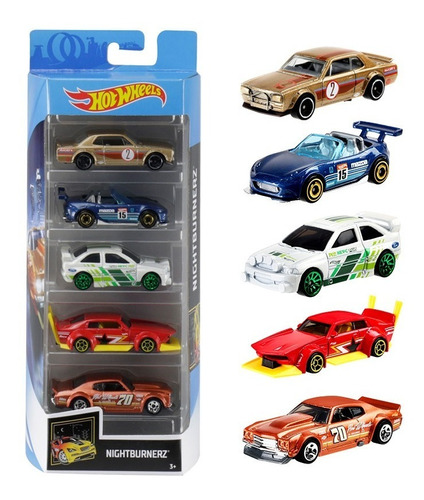 Hot Wheels Set 5 Autitos Surtidos Flames Speedblur Hottruck
