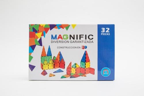 Juego Didactico Bloques Magnific Imanes Magnéticos 32