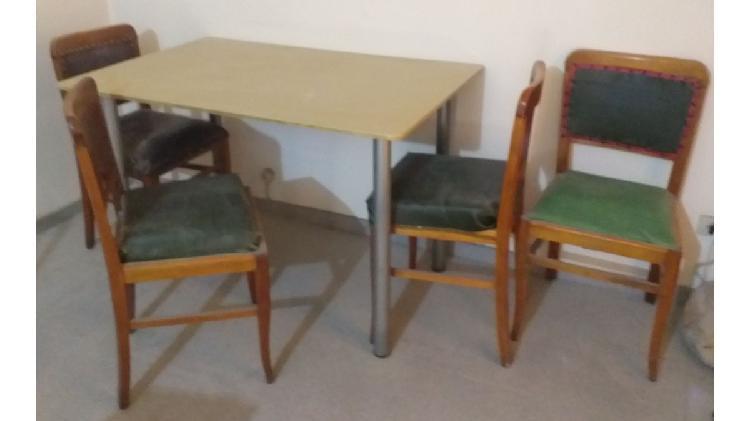 Juego de Mesa Cocina Comedor de 4 sillas
