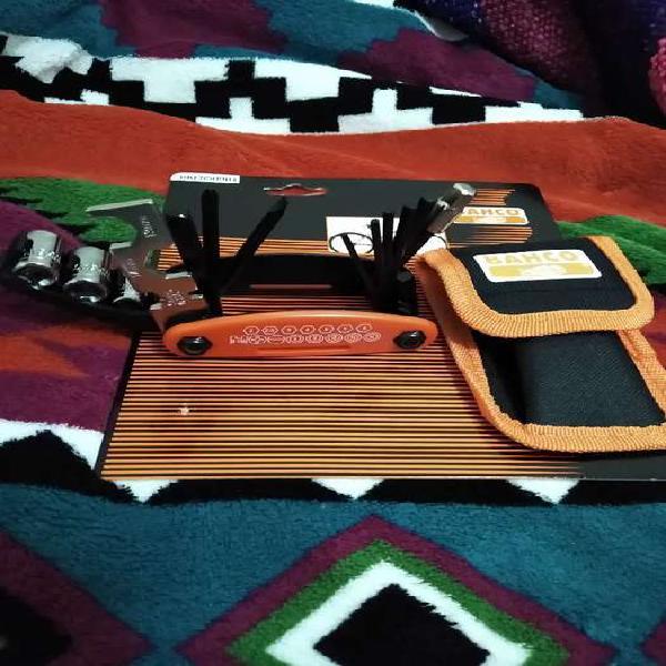 Kit de herramientas bahco para bicicletas made in Taiwan