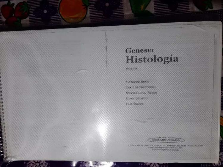 Libro de histología Geneser 4ta edición y quimica