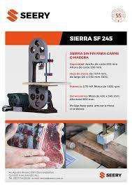 Sierra Sin Fin de Mesa Para Carne / Madera - Completa -