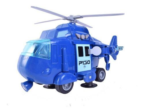 Helicoptero A Friccion Luz, Sonido Y Movimiento Duende Azul