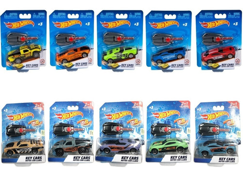 Auto Hot Wheels Key Cars Llave Lanzador 9cm Autito Tv Lelab
