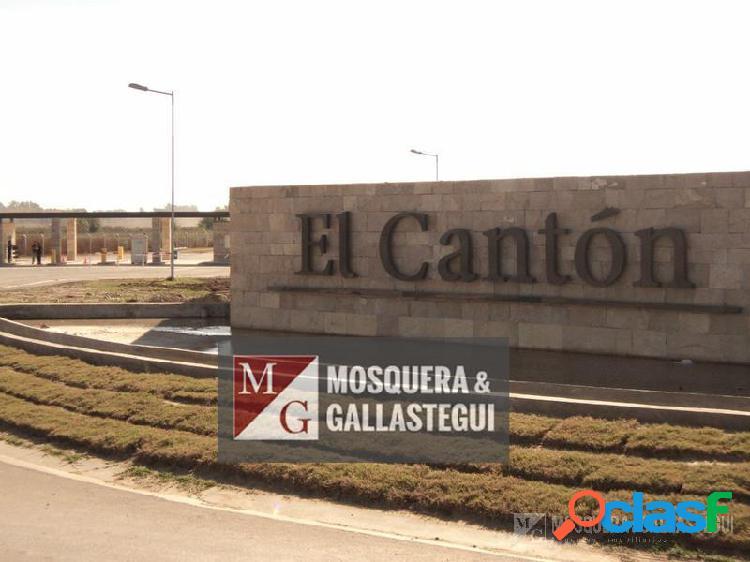 Mosquera y Gallastegui - TERRENO EN BARRIO CERRADO EL CANTON