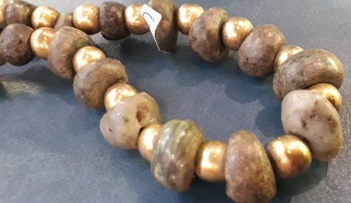 Antiguo Collar Oro Jade Chino Oriental China Tallado A Mano