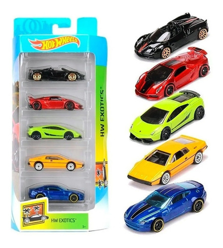 Autitos Hot Wheels Pack Autos X5 Coleccion Cod  Bigshop