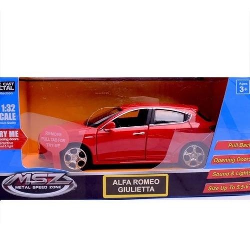 Auto De Colección Alfa Romeo Giulietta Msz C/luz Sonido