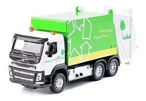 Auto De Coleccion Camion Residuos Metal Con Luz Y Sonido Msz