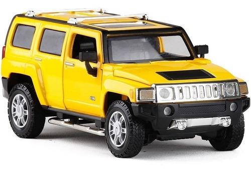 Auto De Coleccion Hummer H3 Escala 1:24 Msz Con Luz Y Sonido