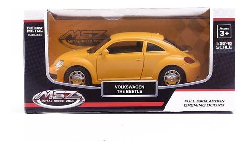 Auto De Coleccion Volkswagen The Beetle 1:38 Msz Pull Back