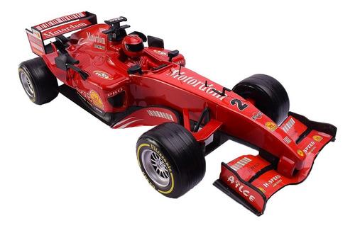 Auto Formula 1 A Fricción Con Muñeco 42 Cm
