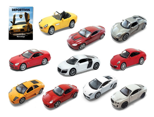 Clarín Colección Autos Deportivos Set 3 De 10 Autos