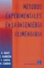 Libro Metodos Experimentales En La Ingenieria Alimentaria De