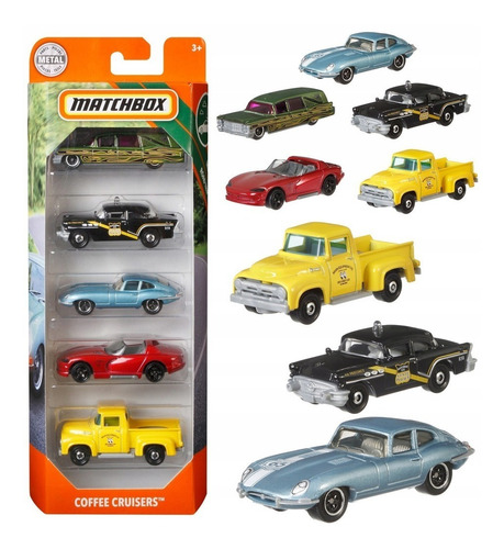Matchbox Autos Surtidos Pack X5 Original Mattel