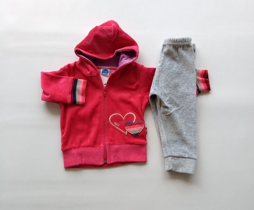 Conjunto Plush Beba Campera Pantalón Bebé Nena Abrigo