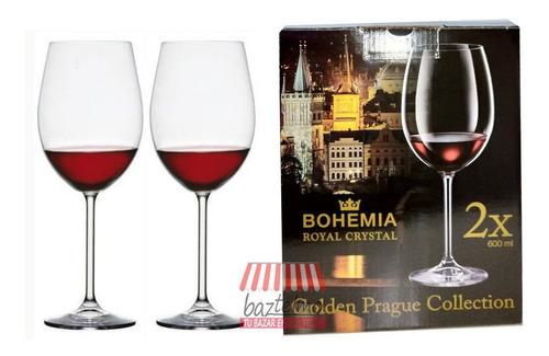 Copas Cristal Bohemia, Copón 600 Ml X2 Uni. Original 100%
