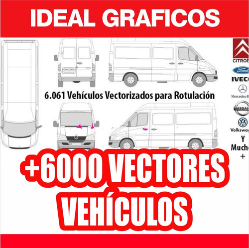 Kit Vectores Vehiculos + De  Ideal Diseñadores