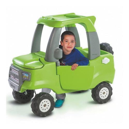 Camioneta Verde Fluo Y Accesorios Grises Rotoys Original