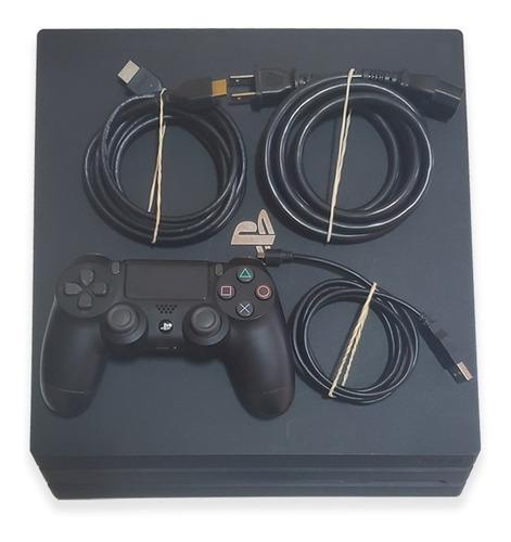 Ps4 Pro 1tb 4k Hdr Playstation 4 + 1 Control + Cables