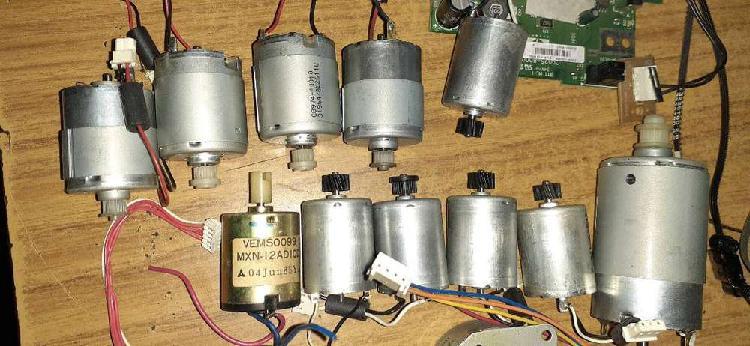 vendo lote de motores de impresora usados