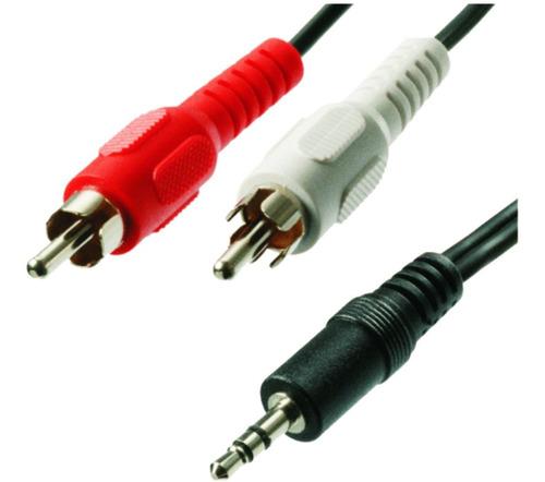 Cable Auxiliar Plug Jack 3.5mm Macho A 2 Rca 3 Mts.anri Tv
