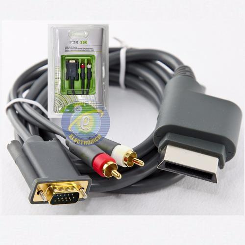 Cable Xbox 360 Vga p + Audio Optica Digital + 2 Rca Htec