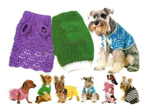 Moldes Ropa Para Perros Tejida 35 Diseños Envio X Email