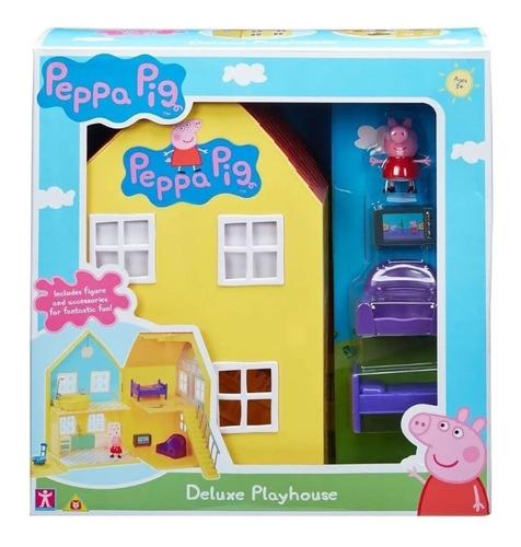 Peppa Pig Casa House Deluxe Playset Con Accesorios Original
