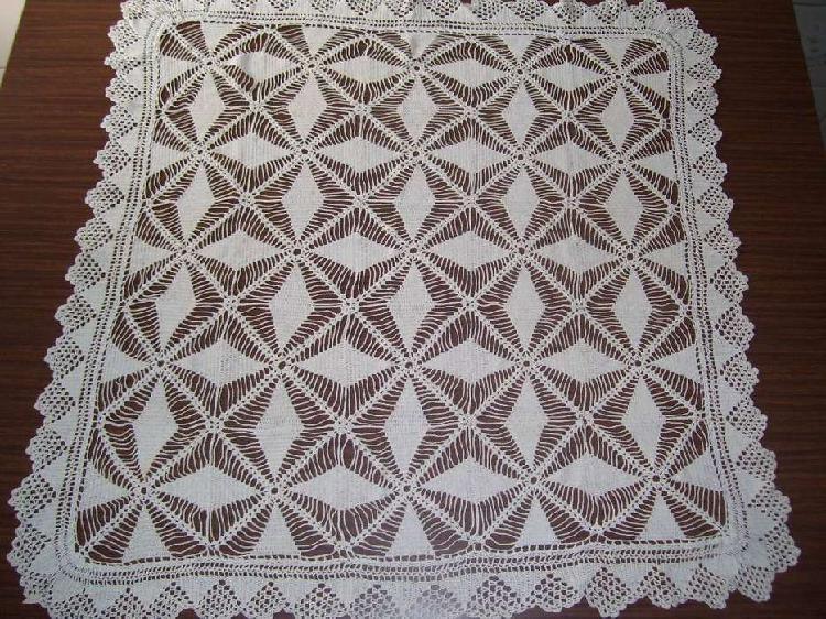 Carpeta centro de mesa Tejida a mano Al crochet hilo macrame