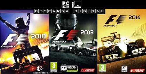 F1 2010 + 2013 + 2014 (3 Juegos) Pc Digital Español