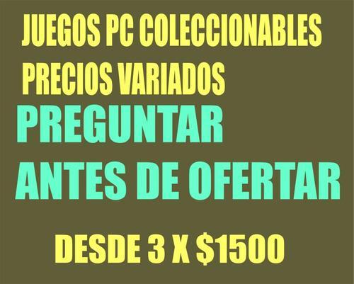 Juegos Pc De Coleccón Originales Nuevos Caja Cerrada