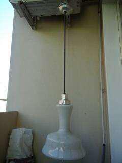 Lampara de techo colgante vidrio sano precio por cada una.