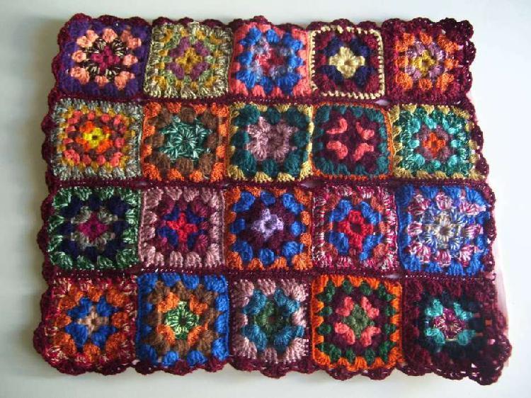 Lote de 4 Fundas de Almohadones Al Crochet de lana