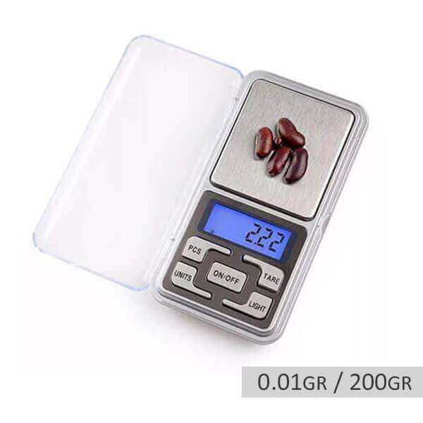 Mini balanza digital de precisión 0.01gr hasta 200gr